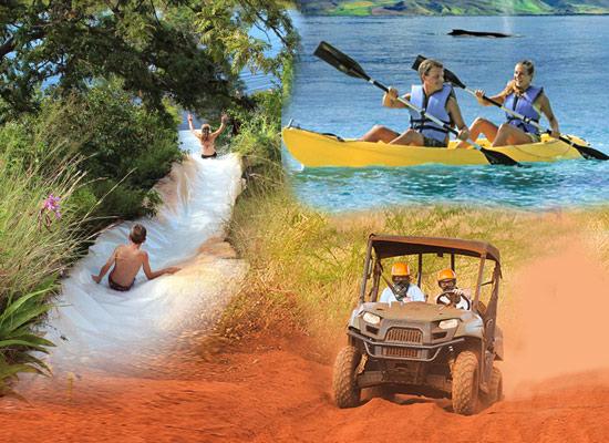 ATV, Waterslide & Kayak Combo Tour